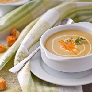 Protein vegetable soup puree